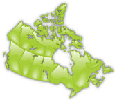 Detailed Map of Canada — Vettoriale Stock