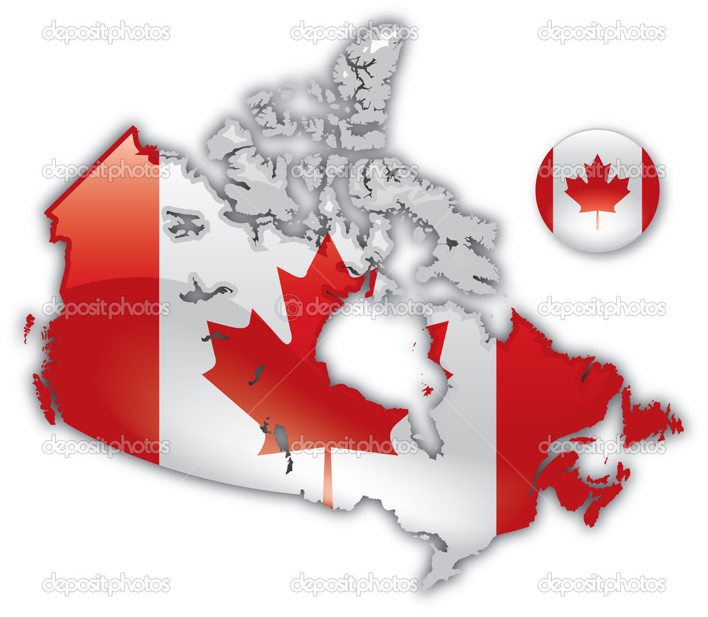 Detailed Map of Canada  Stock Vector #9518536