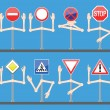 Traffic signs with hands — Stock Vector