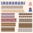 Greek border ornaments — 图库矢量图片