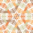 Royalty-Free Stock Imagen vectorial: Overlapping intensive and seamless patterns