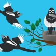 Royalty-Free Stock Vector Image: Magpies