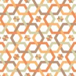 Stock Vector: Overlapping hexagons - seamless pattern