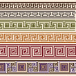 Greek meanders - Stock Vector