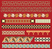 Medieval border ornaments — Stock Vector