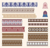 Greek border ornaments — Vecteur