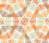 Overlapping intensive and seamless patterns — Stock Vector