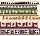 Greek meanders — Stock Vector