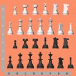 White and black chess pieces — Stock Photo #9294285
