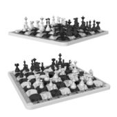 Chess and oval shaped chess fields — Stock Photo
