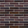 Wall of glazed bricks (precise seamless background) — Photo