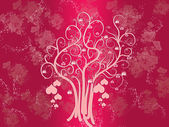 Pink tree of hearts — Stock Photo