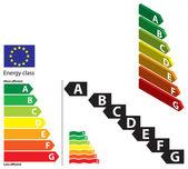 Energy classes — Stock Vector