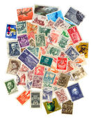 Stamp collection — Stock Photo