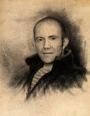 Drawing portrait — Stock Photo