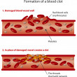 Blood clots - Stock Vector