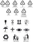 Paketet symboler — Stockvektor