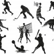 Royalty-Free Stock : Sports silhouette