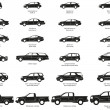 Royalty-Free Stock Vector Image: Cars silhouette