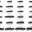 Stock Vector: Cars silhouette