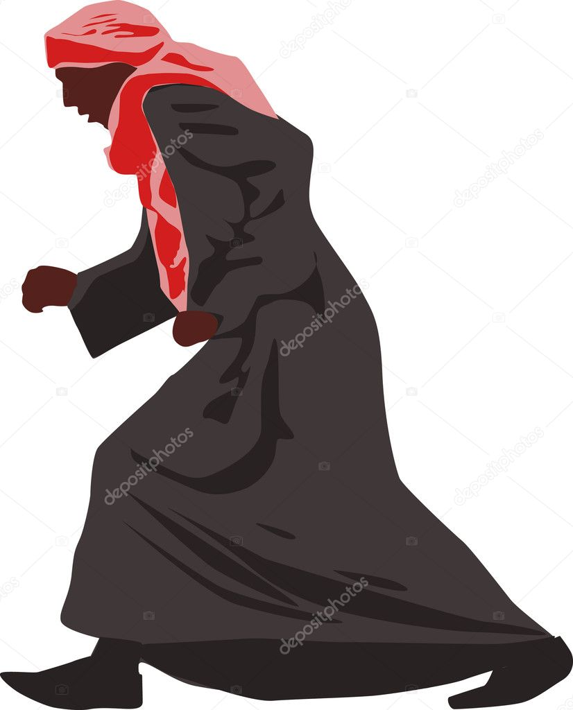The arab in national clothes  — Stock Vector #8824691