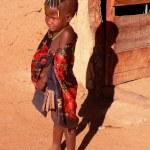 Namibian boy, Himba tribe — Stock Photo