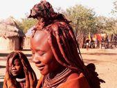 Namibian girls from himba tribe — Stock Photo