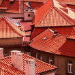 Red roofs, prague, czech republic — Stock Photo