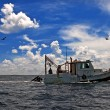 Towing Boat - Fishing boat — Stock Photo
