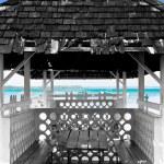 Old hut - tobago - bucco bay — Stock Photo