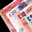 UK Currency paper money - Banknotes. — Stock Photo
