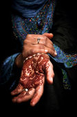 Mehendi, henna on bride's hand - Color 02 — Stock Photo