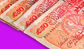 Fifty pounds sterling UK Currency with clipping path — Stock Photo