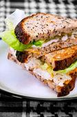 Egg Sandwich on a plate 02 — Stock Photo