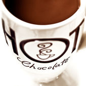 Hot chocolate Drink - close up — Stok fotoğraf