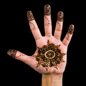 Henna design on the palm of the hand 03 — Stock Photo