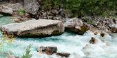 Valbona river in Albania — Stock Photo