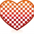 Chess heart - Stock Vector