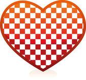 Chess heart — Stock Vector