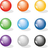 Color balls — Stock Vector