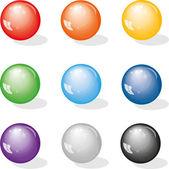 Farbe kugeln — Stockvektor