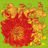 Bright flower — Stock Vector