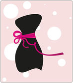 Little black clothes with a ribbon — Stock Vector