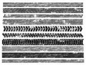 Tyre Tracks — Stock Vector