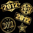 2012 gold-Stempel — Stockvektor