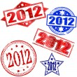 2012 rubber stamp — Stock Vector