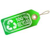 Etiqueta de reciclado — Vector de stock