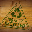 Stock Photo: 100 Percent Recycled stamp