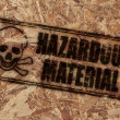 Hazardous material stamp — Stock Photo