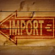 Import rubber stamp — Stock Photo